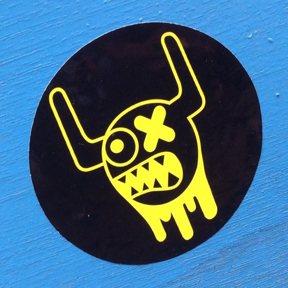 sticker Ox Alien Amsterdam 2013 May