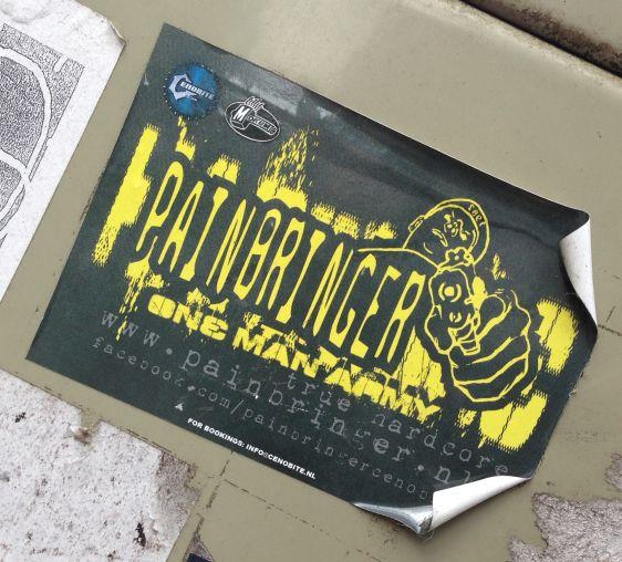 sticker Painbringer true hardcore 2014 March Amsterdam center