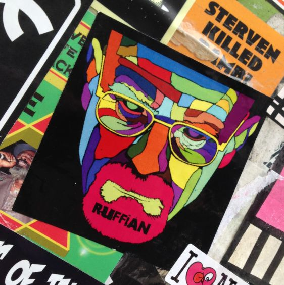 sticker Ruffian 2014 May Amsterdam Center breaking bad