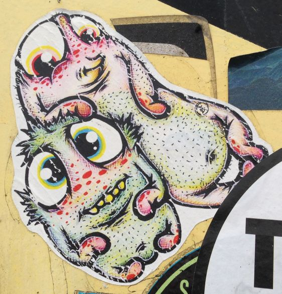 sticker cute critters Amsterdam North 2014 April creatures