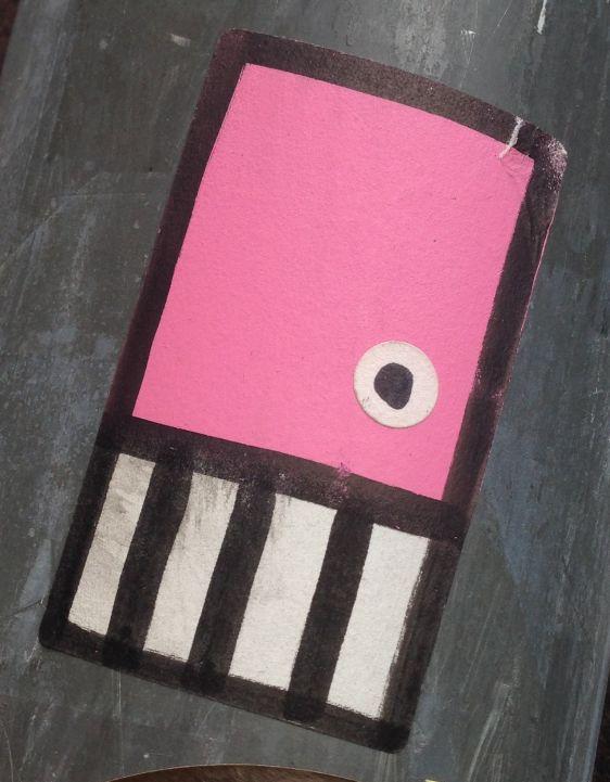 sticker pink skull Spuistraat Amsterdam 2014 June roze schedel street-art