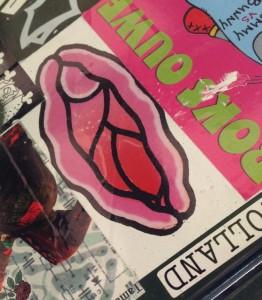sticker vagina Amsterdam Amsterdamse Brug 2014 Juni sex