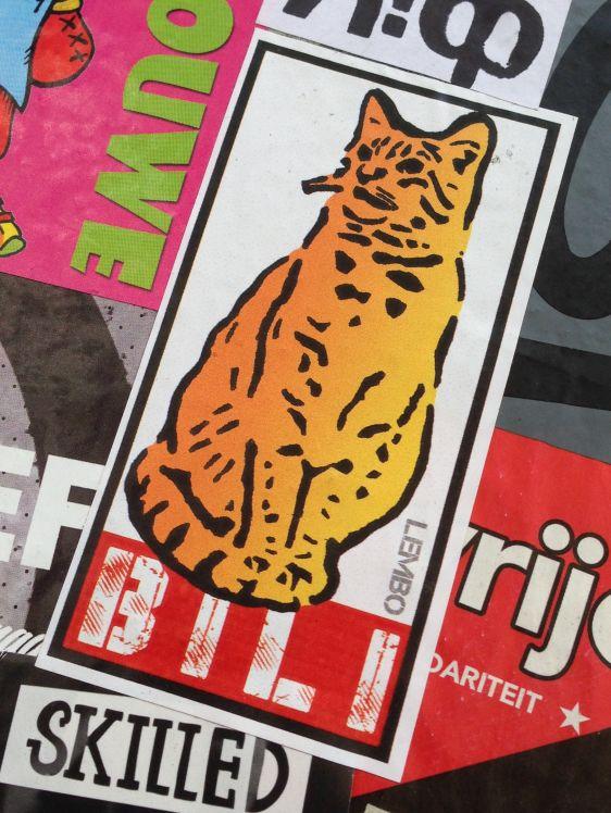 Lembo sticker Bili Spuistraat Amsterdam 2014 June