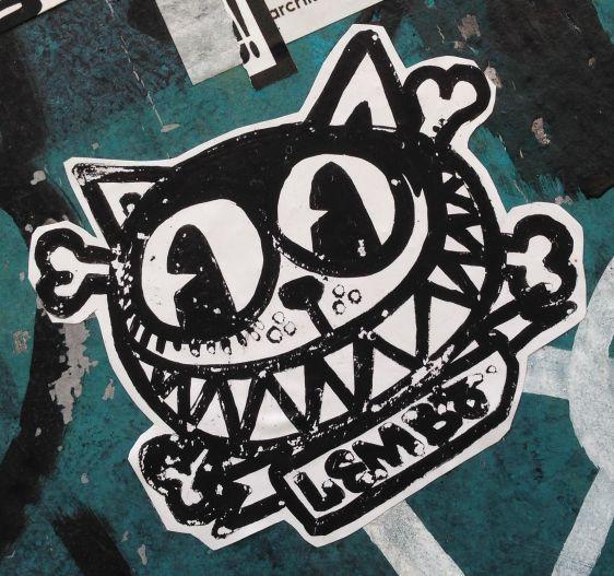cat sticker Lembo Spuistraat Amsterdam 2014 June kat poes