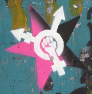 feminism graffiti 2014 June Amsterdam Spuistraat rape fist