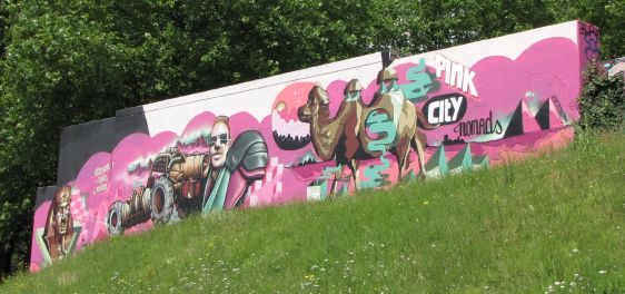 graffiti Pink City Nomads 2014 June Arnhem camel pyramids
