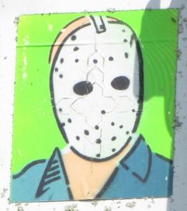 graffiti mask-face Amsterdamse Brug Amsterdam 2014 May masker gezicht crime