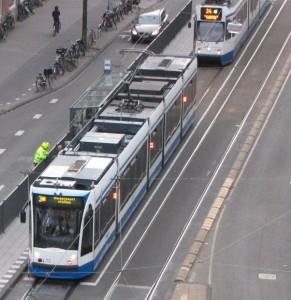 politie tramhalte Roelof Hartplein Amsterdam juni 2014 hek