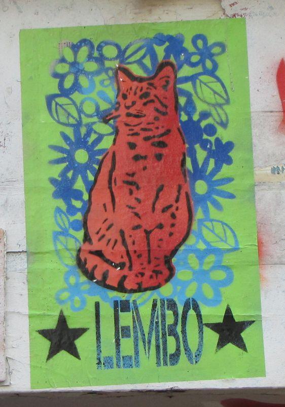 stencil Lembo 2014 June Amsterdam Spuistraat cat poesje