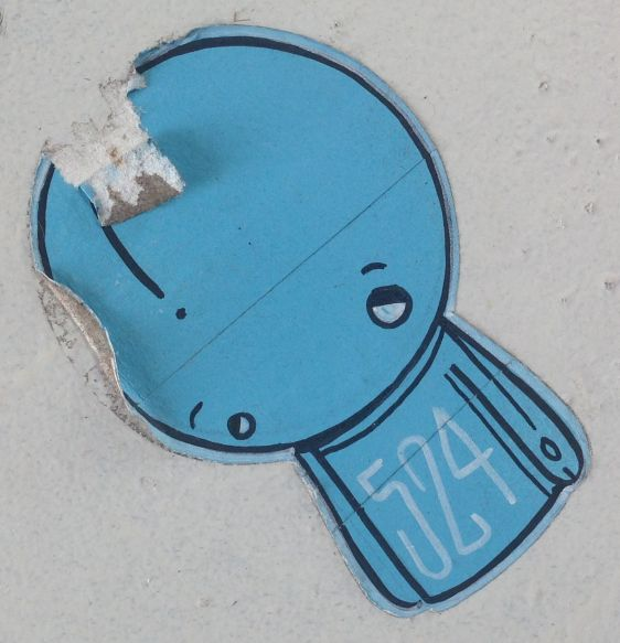 sticker 524 Arnhem 2014 June boy blue