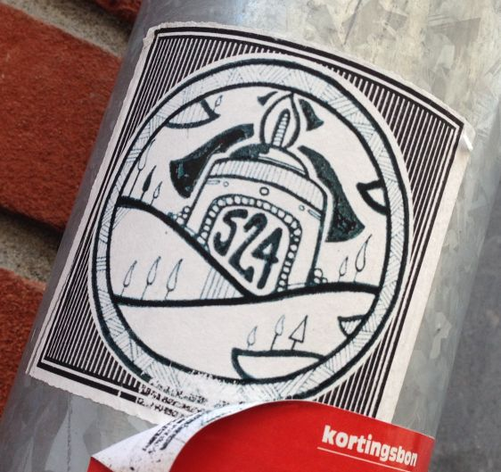 sticker 524 Arnhem 2014 June candle trees