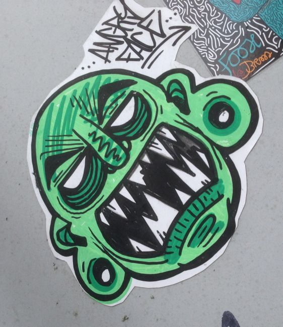 sticker Amsterdam 2015 Januari Angry Face