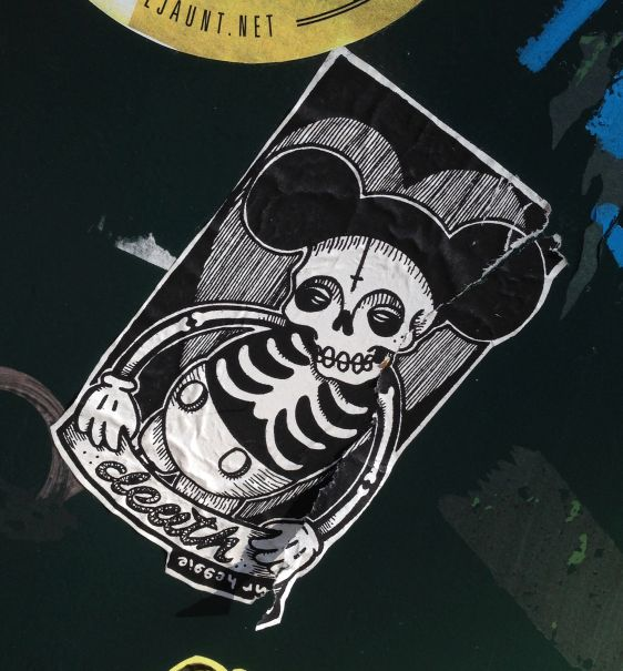 sticker Amsterdam mr Heggie death mickey mouse 2013 September