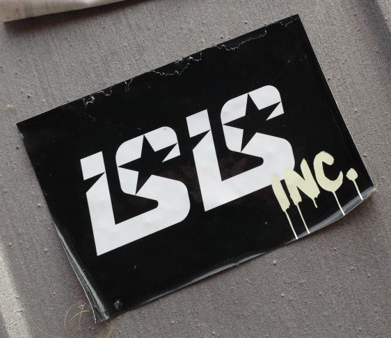 sticker ISIS inc 2014 June Amsterdam North NDSM terror iraq syria