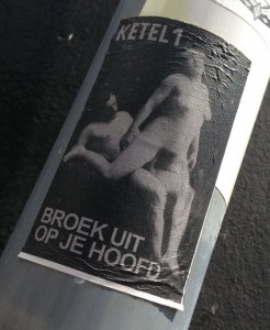 sticker Ketel 1 broek uit op je hoofd Arnhem 2014 June sex
