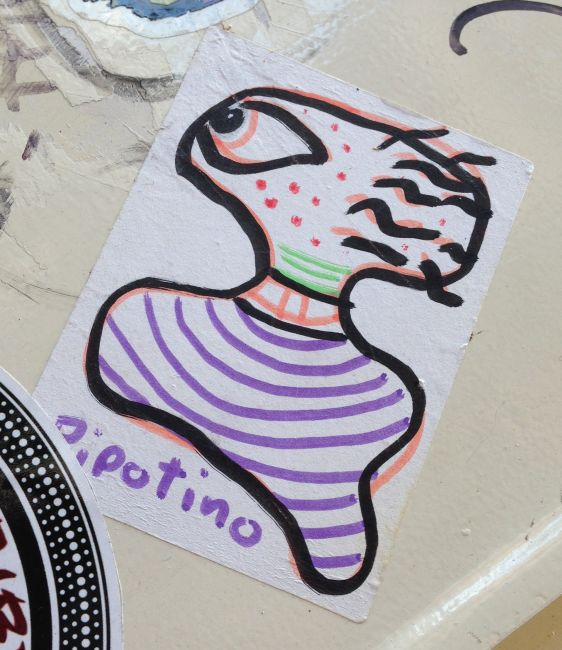 sticker Pipotino Amsterdam center 2013 October critter