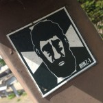 sticker Riazone Riaz-1 Arnhem 2014 June man beard