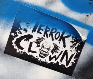sticker Terror Clown Arnhem 2014 June
