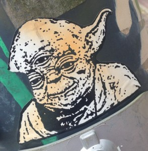 sticker Yoda Arnhem 2014 June star wars