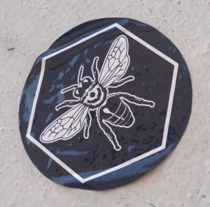 sticker bee insect Nijmegen 2014 June bijen insecten