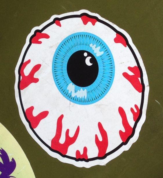 sticker eye-ball Amsterdam center 2014 April oog eye