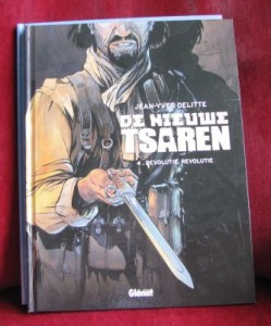De nieuwe tsaren stripboek Delitte kaft revolutie