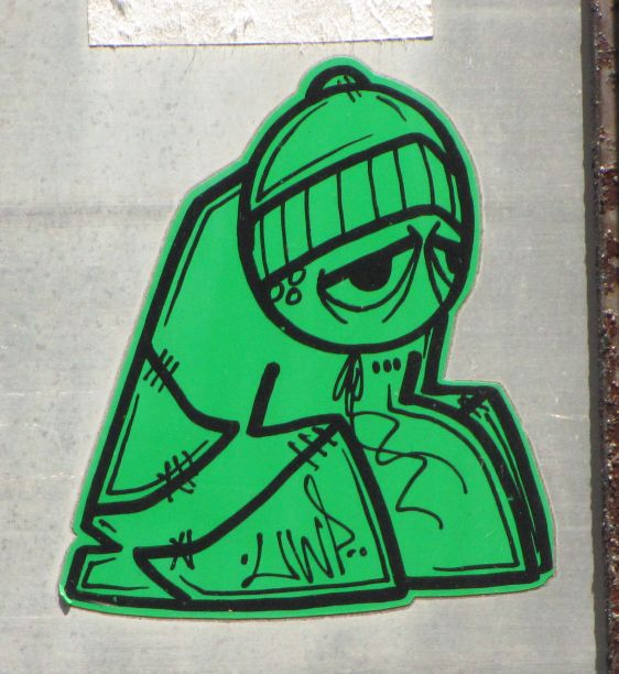 Underwater Pirates UWP sticker Philadelphia 2014 July green