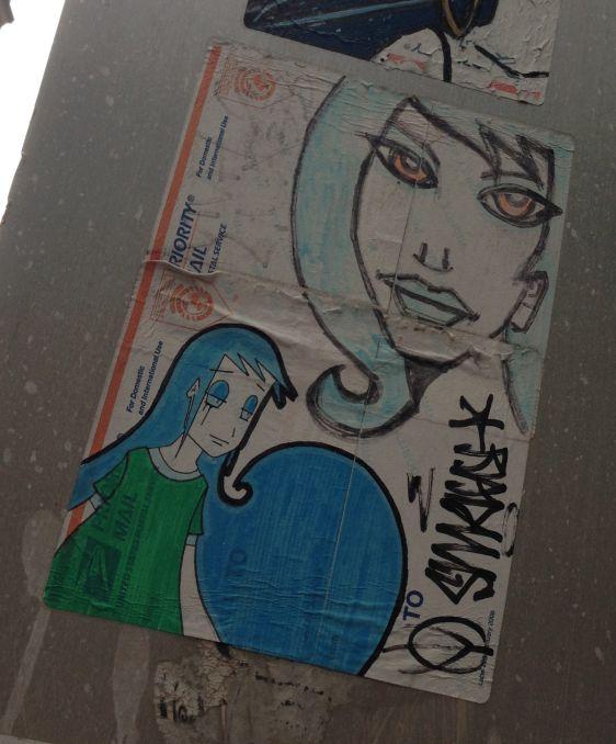 Viva Lux sticker 2014 July Philadelphia street-art woman girls