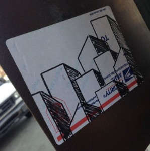 building sticker 2014 July Philadelphia street-art