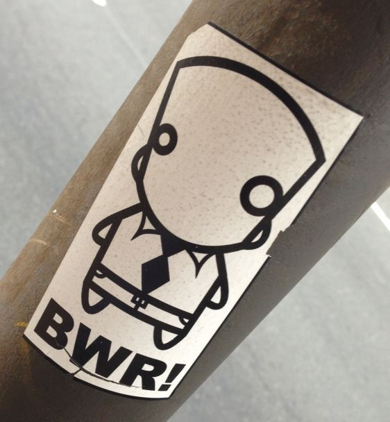 sticker Bobwillreign BWR 2014 July Philadelphia street-art