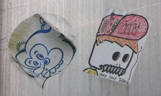 sticker Born Sexy Tribe BST Squit Philadelphia 2014 July skull teeth hat