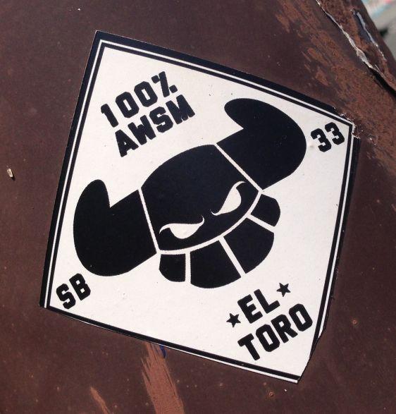 sticker El Toro 100 awsm 2014 July Philly sb 33