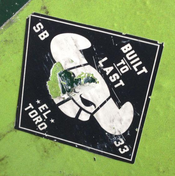 sticker El Toro 2014 July Philadelphia street-art built to last sb33