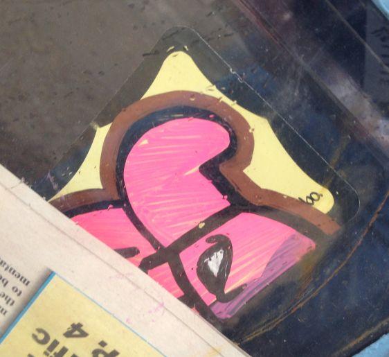 sticker El Toro 2014 July Philadelphia street-art pink