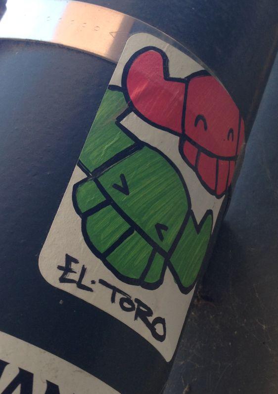 sticker El Toro 2014 July Philadelphia street-art vikings double