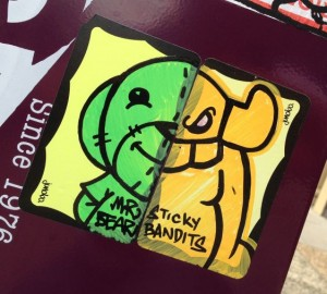 sticker El Toro Mr Bear collab 2014 July Philadelphia street-art sticky bandits