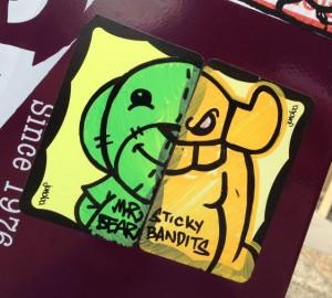 sticker El Toro Mr Bear collab 2014 July Philadelphia street-art sticky bandits