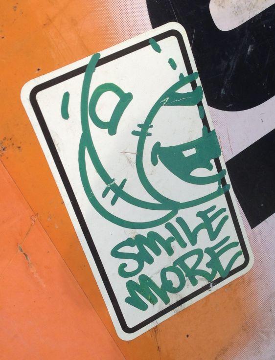 sticker Mr Bear 2014 July Philadelphia street-art smile more