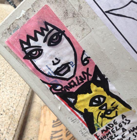 sticker Viva Lux 2014 July Philadelphia street-art woman girl