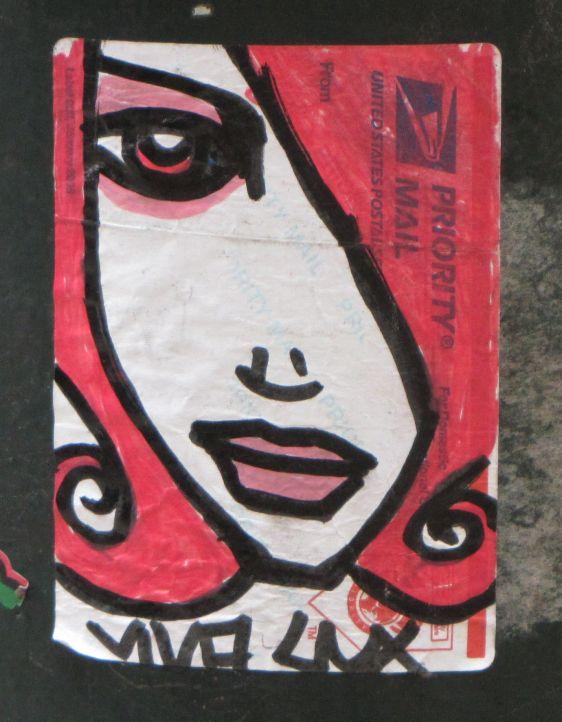 sticker Viva Lux Philadelphia 2014 July girl woman