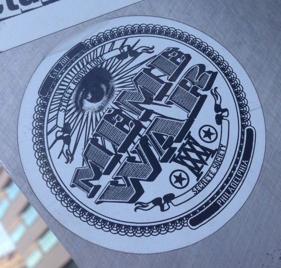 sticker meme war 2014 July Philadelphia secrete society street knowledge