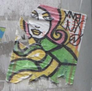 woman sticker girl Philadelphia 2014 July Viva Lux