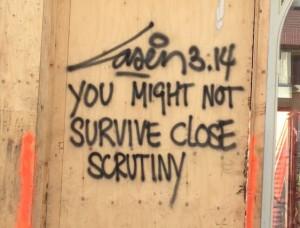 graffiti Laser 3.14 Amsterdam South 2014 August survive close scrutiny