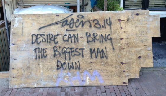 graffiti Laser 3.14 Amsterdam center 2014 August desire man love