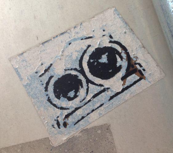 sticker Markese the mop 2014 July Philadelphia street-art eyes