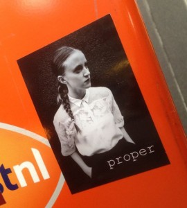 sticker Proper girl Amsterdam 2014 November meisje