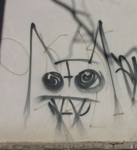 graffiti Tiraspol Transnistria 2014 October cat satan