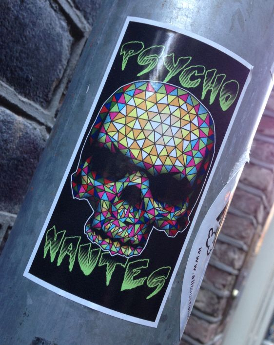 sticker Psycho-Nautes skull Amsterdam 2014 schedel