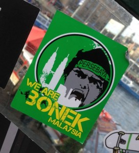 sticker Bonek Malaysia persebaya Amsterdam 2014 November hooligans