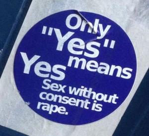 anti-rape sticker Amsterdam Spuistraat 2014 sexual violence